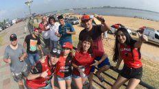 los hinchas de colon destacaron la hospitalidad de los paraguayos