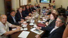 Lifschitz junto a su gabinete, en la reunión de este lunes.