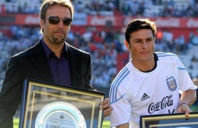 Batistuta y Zanetti ingresaron al Salón de la Fama del fútbol