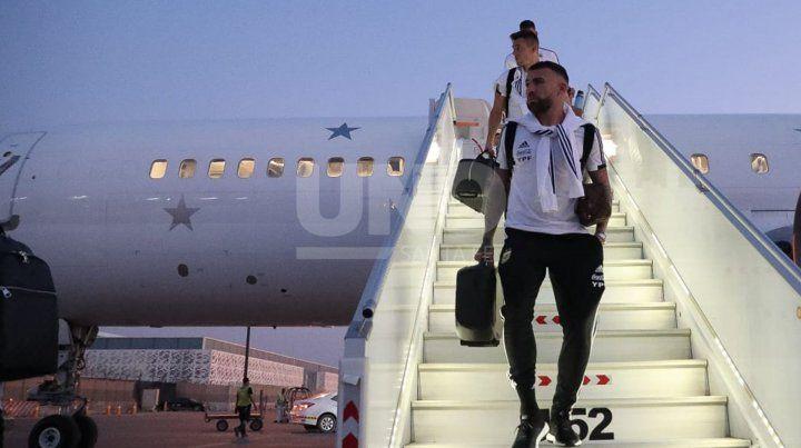 Argentina llegó a Riad para enfrentar a Brasil