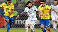 promesa de partidazo entre argentina y brasil, con messi