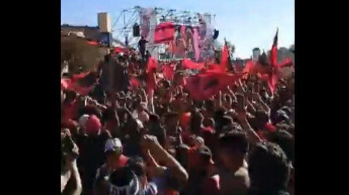 El video inédito del Yo soy Sabalero en el fan fest del Brigadier López