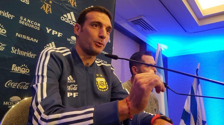 Scaloni palpitó con todo el duelo con Uruguay