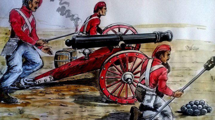 Representación de los colores de los cañones realizada por el ilustrador Miguel Lugo.