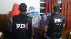 Los detenidos durante los allanamientos realizados en la jornada del sábado