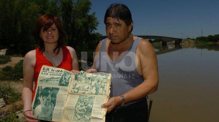 Los protagonistas. Alicia Beatriz Poncela y El Tata Joaquín Héctor Escobar.