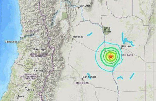 El epicentro del sismo,
