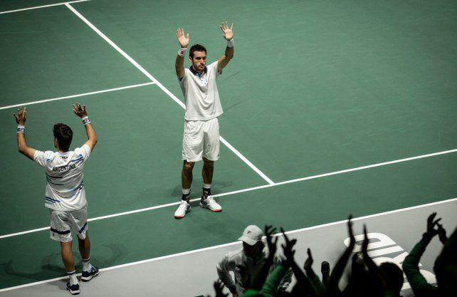 Argentina enfrentará a España por los cuartos de final de la Copa Davis