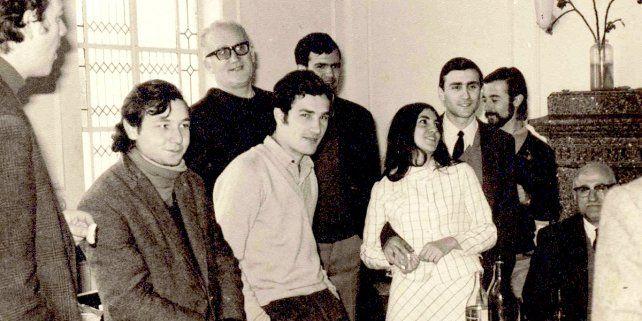 El padre Atilio Rosso en su paso por el Colegio Mayor Universitario.