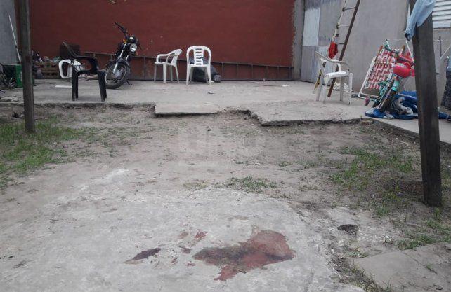 El patio de la casa de barrio Scarafía en dónde sucedió la masacre.