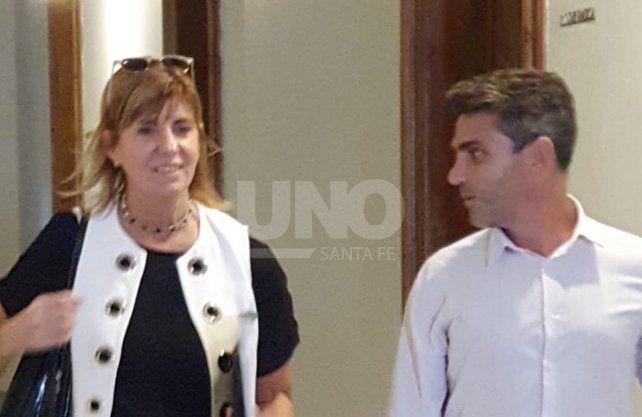 La vicegobernadora electa, Alejandra Rodenas, al finalizar las negociaciones fallidas con los senadores que aprobaron el presupuesto.