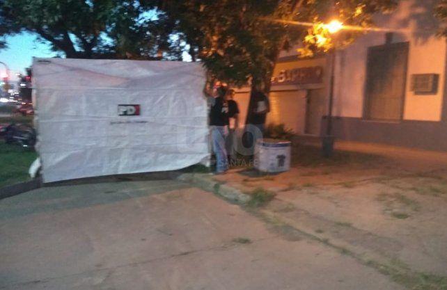 Imagen del accidente fatal de barrio Barranquitas.