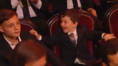 la sorpresiva reaccion del hijo de messi tras el sexto balon de oro