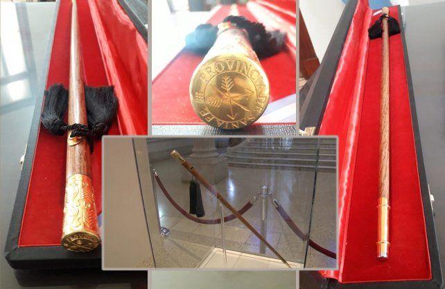 Réplica y original del bastón del Brigadier