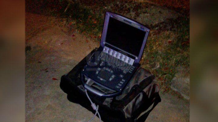 El ecógrafo había sido robado en la zona del centro del auto del profesional.