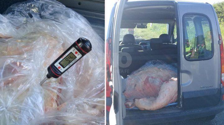 Unos 150 kilos de carne fueron secuestradas.