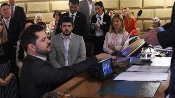 Marcos Castelló en la jura