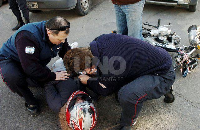 Accidentes de tránsito: 9 motociclistas por día ingresan a la guardia del Cullen