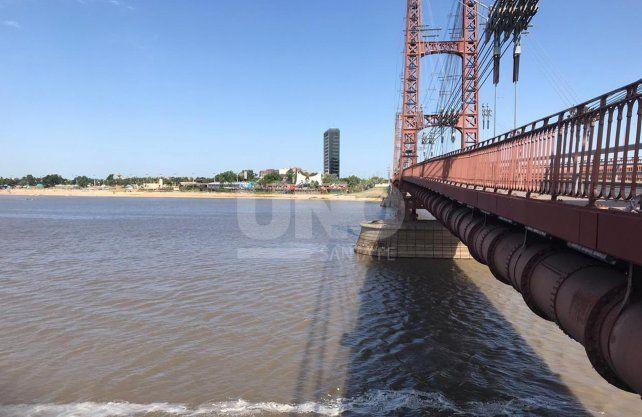 Los pilotes del Puente Colgante
