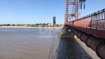 Los pilotes del Puente Colgante, una referencia para los santafesinos.
