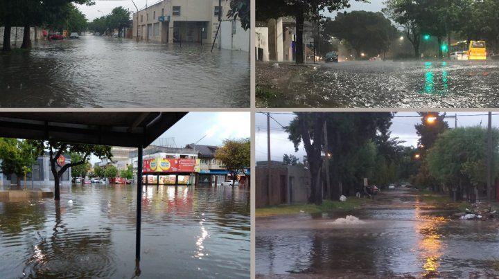 Fuerte temporal de lluvia en Santa Fe