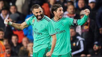 real madrid se lo empato sobre la hora al valencia y es lider junto a barcelona