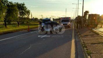 El accidente fue a la altura del kilómetro 8 de la autovía 19.