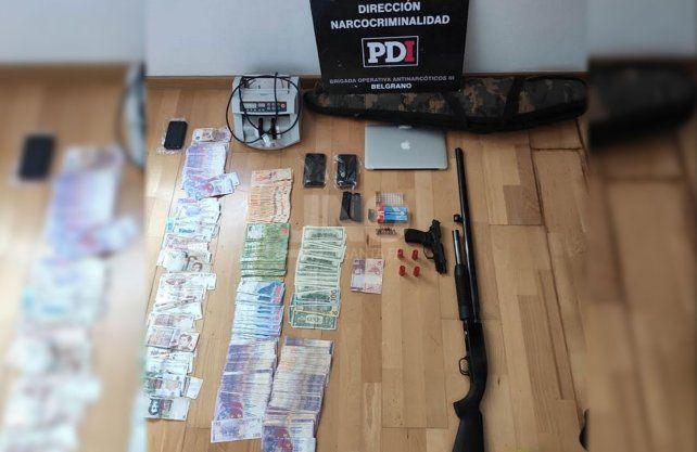 Los elementos secuestrados durante los allanamientos por la causa de prestamistas.