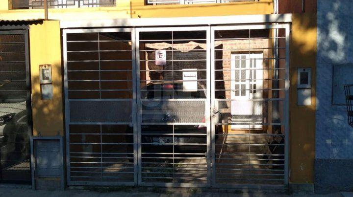 La vivienda blanco de los delincuentes en barrio Mayoráz.