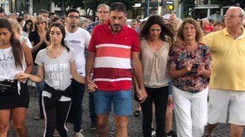 Gustavo, padre de Gonzalo junto a su familia, encabezaron la marcha.