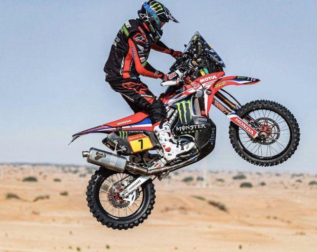 El argentino Benavídes finalizó 4º en motos en el inicio del Rally Dakar