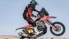 el argentino benavides finalizo 4º en motos en el inicio del rally dakar