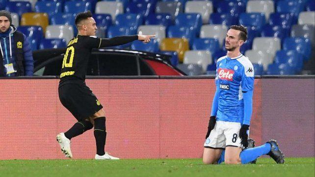 El Inter ganó con un gol de Lautaro Martínez y manda en el Calcio