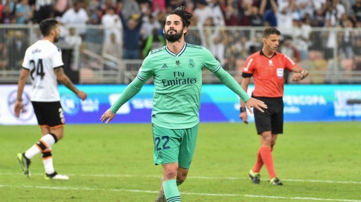 Real Madrid venció a Valencia y pasó a la final de la Supercopa de España