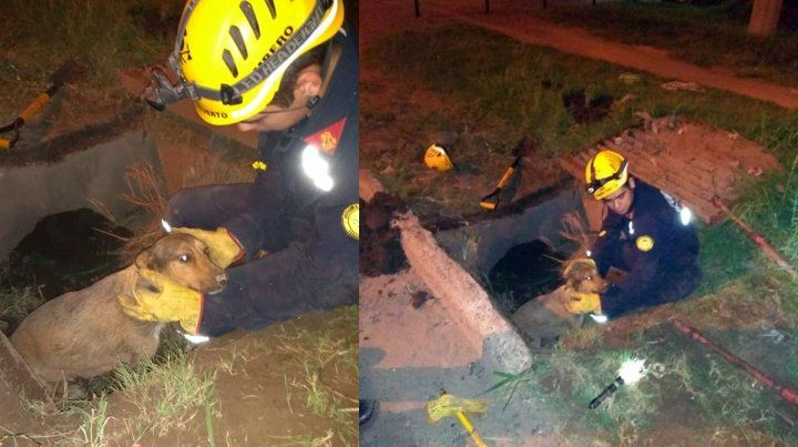Los bomberos que participaron del rescate son Demian Guzmán