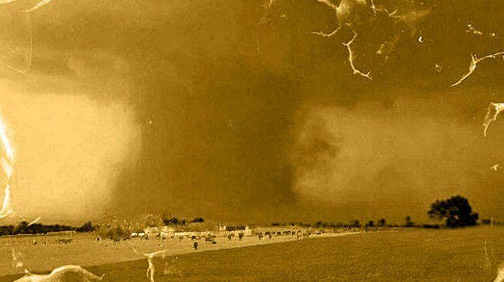 Imágenes del tornado en San Justo.