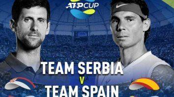 espana y serbia definiran la copa atp en australia