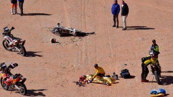 tragedia en el dakar por el fallecimiento de un piloto portugues