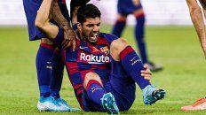 barcelona pierde a luis suarez por cuatro meses