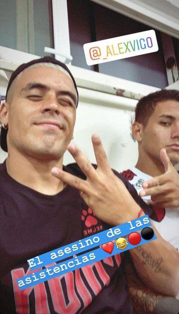 Con Alex Vigo.Foto: Instagram brianfernandez_38