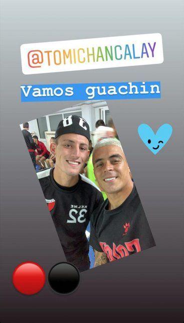 También con otro formado en las inferiores, Tomás Chancalay.Foto: Instagram brianfernandez_38
