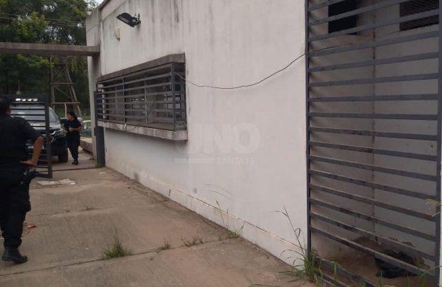 El lugar por dónde se escaparon los presos.
