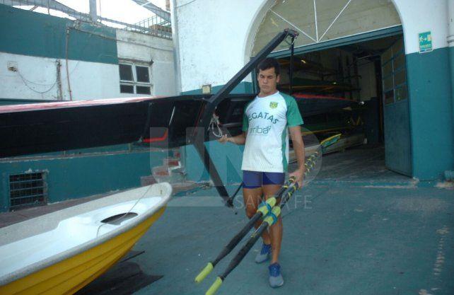 Bautista Barreto es una de las joyas del remo santafesino y representa el club Regatas. UNO Santa Fe | José Busiemi