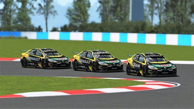 El piloto oriundo de Quilmes se apoderó de la carrera virtual.