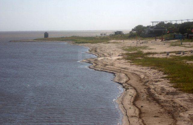 El estado de la Laguna Setúbal con la bajante pronunciada del río.