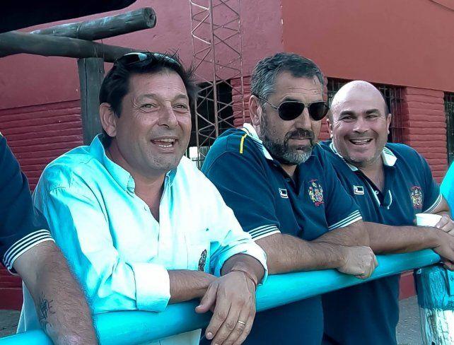 Los dirigentes de La Salle, Bajach, Grosso y Leurino, tienen todo bajo control.