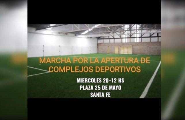 Los complejos de fútbol 5 de la ciudad cerraron sus puertas el 15 de marzo.