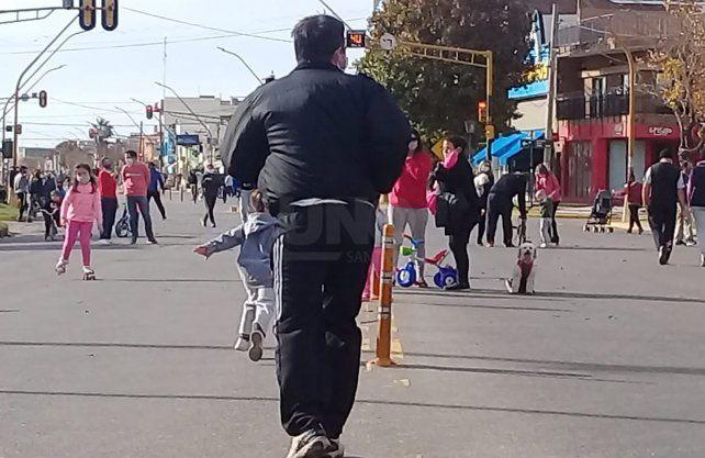 Los santafesinos salieron a la calle el fin de semana
