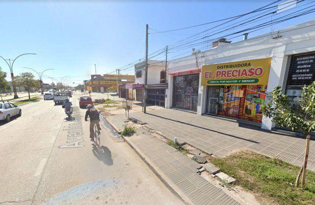 Lugar de la detención. La joven cayó en las inmediaciones de avenida Peñaloza y Castelli.