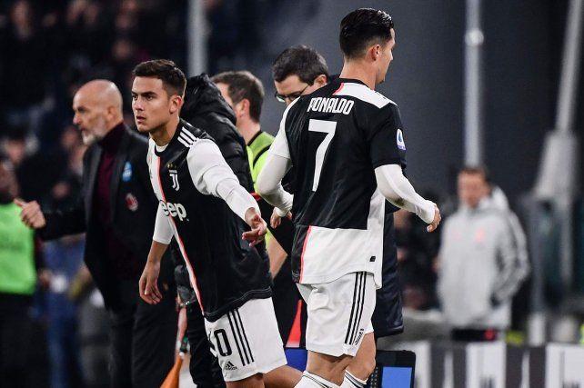 Dybala y Ronaldo serán la gran esperanza de Juventus ante Milan por la Copa Italia.